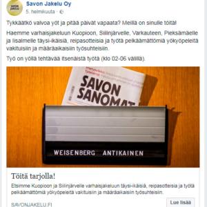 Hanne Kortelainen, Jakelupäällikkö, Savon Jakelu Oy