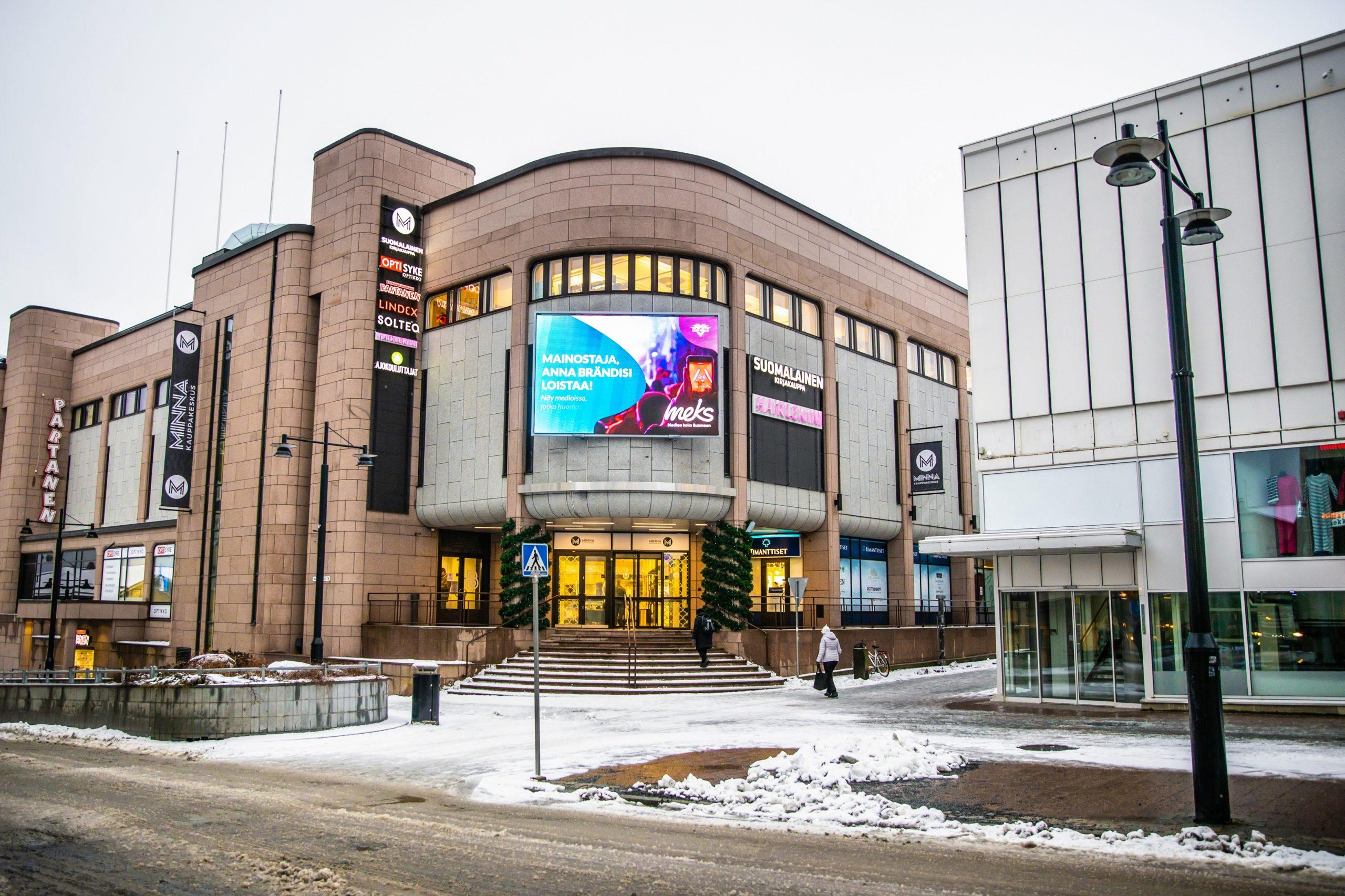 Kuopio: Kauppakeskus Minna, pääsisäänkäynti