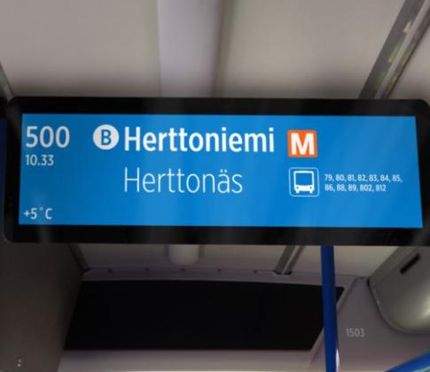 HSL:n matkustajat tavoitetaan tehokkaasti uusilla bussinäytöillä