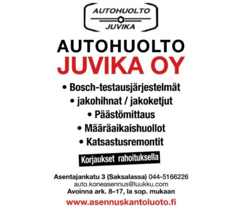Autokorjaamon asiakaskunta on rakentunut mainonnalla kaupunkilehdessä